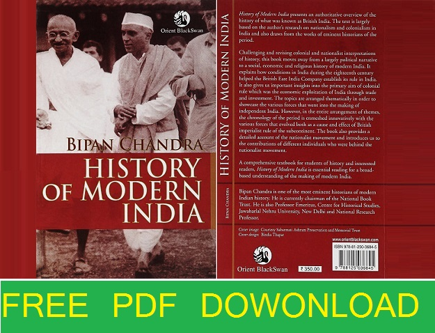 history of modern India Bipin Chandra pdf free download