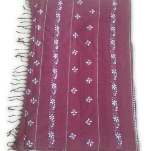 Womans Handloom Cotton Katha Stich Saree - 1
