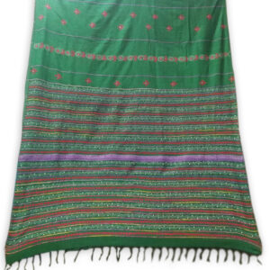 Woman's Handloom Cotton Khes Kantha Stich Work Saree