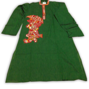 Men's Cotton Applic Punjabi (Green)