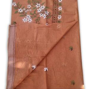 Womans Handloom Cotton Katha Stich Saree - 6
