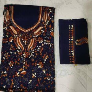 Women's Handloom Cotton Kantha Stich Churidar Piece With Duptta (8)