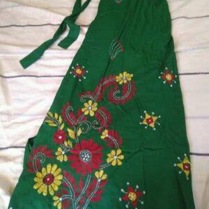 Handloom Cotton Kantha Stich Wrap Skirt (3)