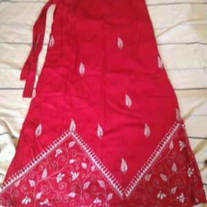 Handloom Cotton Kantha Stich Wrap Skirt (5)